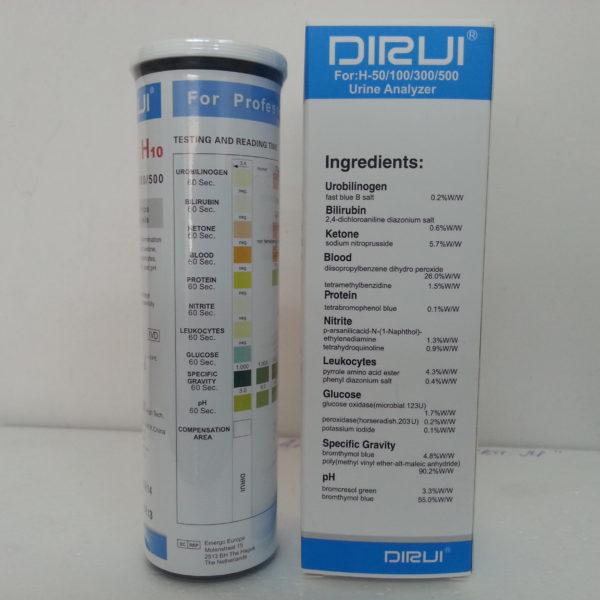 Тест-полоски DIRUI Е10 ATN для анализаторов Н50/100/300/500  Госреест СИ и МИ. Доставка по России