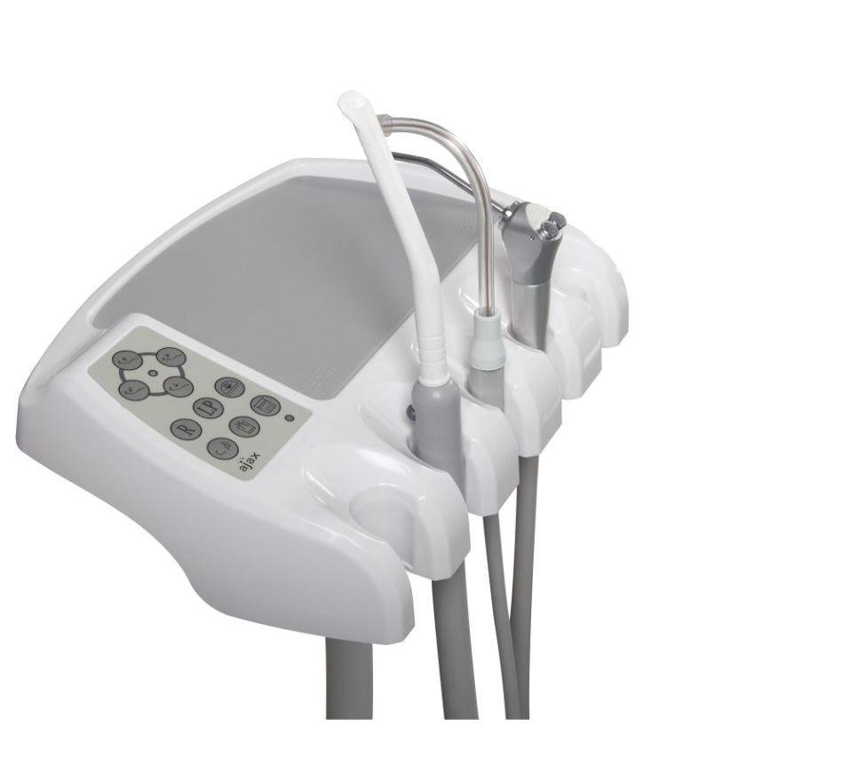 Стоматологическая установка Ajax AJ 15 с верхней подачей инструментов.
