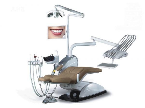 Стоматологическая установка Ajax AJ 18 с верхней  подачей инструментов.