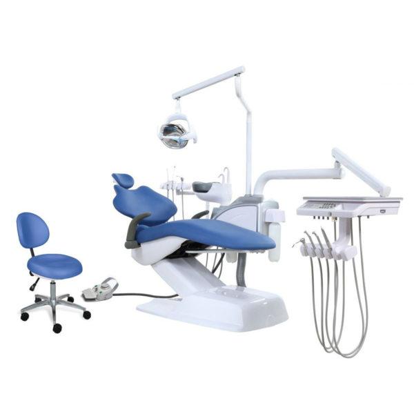 Стоматологическая установка Ajax AJ 15 с нижней подачей инструментов.