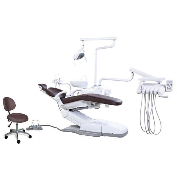 Стоматологическая установка Ajax AJ 16 с верхней подачей инструментов.