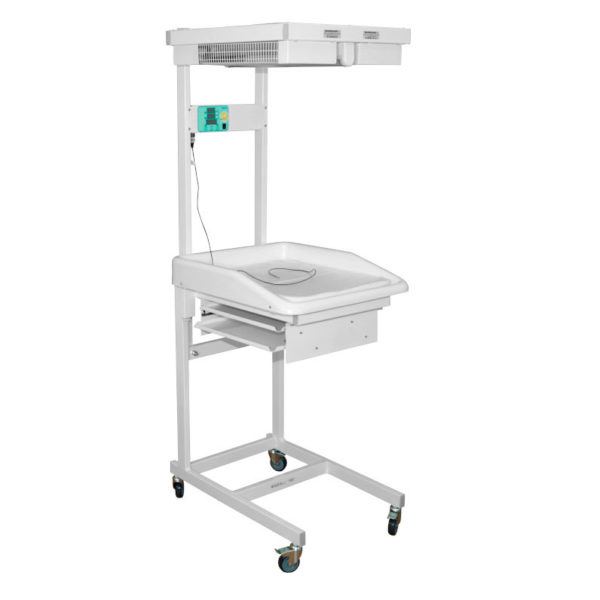 Стол для санитарной обработки новорожденных ДЗМО АИСТ-2 (полки из металлической стали с порошковым покрытием)