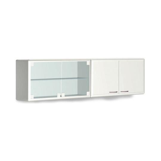 Шкаф металлический навесной предназначен для хранения медицинских материлов  с двумя дверями  металлическими L 032