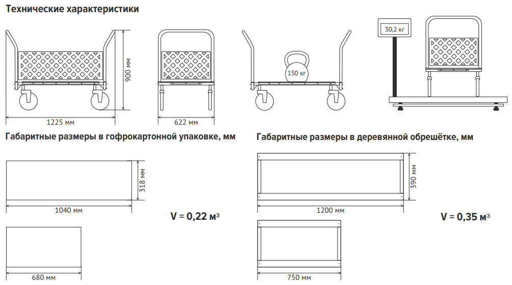 Тележка внутрикорпусная ТВК-2