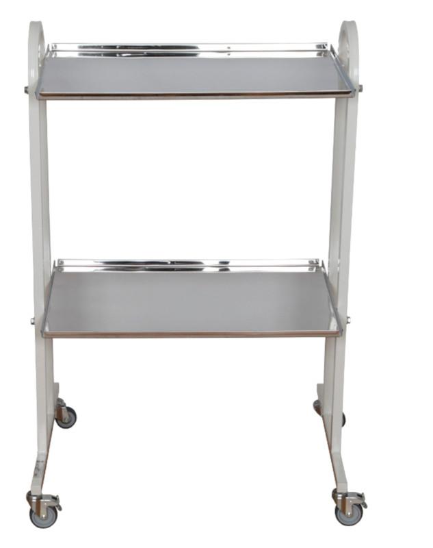 Столик инструментальный СИ-5 (Мебельные колеса, 2 полки)