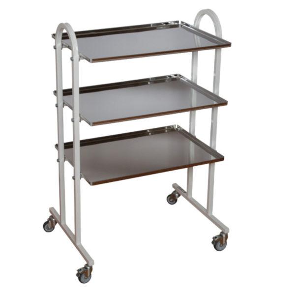 Столик инструментальный СИ-5 (Мебельные колеса, 3 полки)