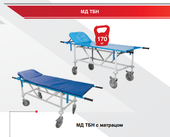 Тележка медицинская HILFE МД ТБЛ