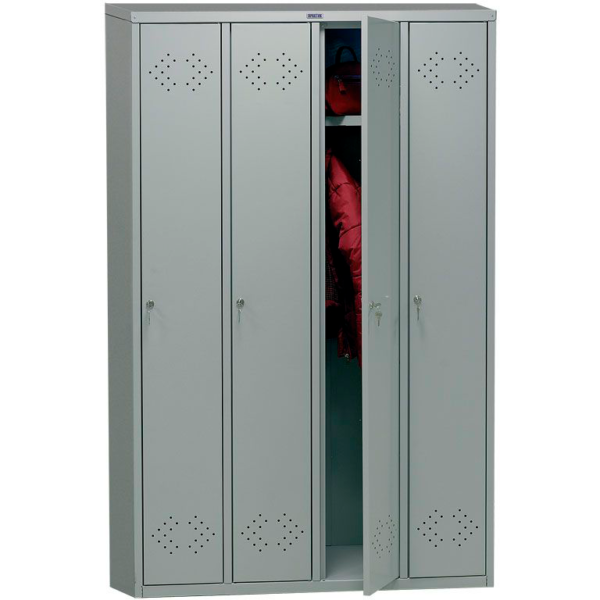 Медицинский шкаф для раздевалок ПРАКТИК МД LS(LE)-41