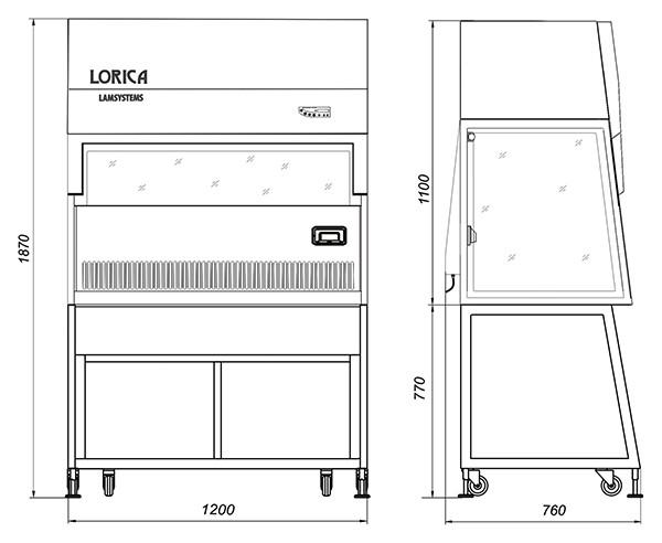 Ламинарный бокс БАВнп-01-Ламинар-С-1,2 Lamsystems LORICA